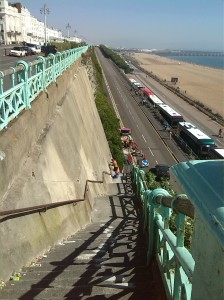 Madeira Drive wall maintenance begins