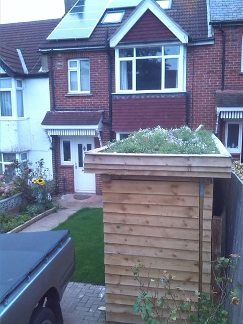 DIY shed roof on Hartington Road