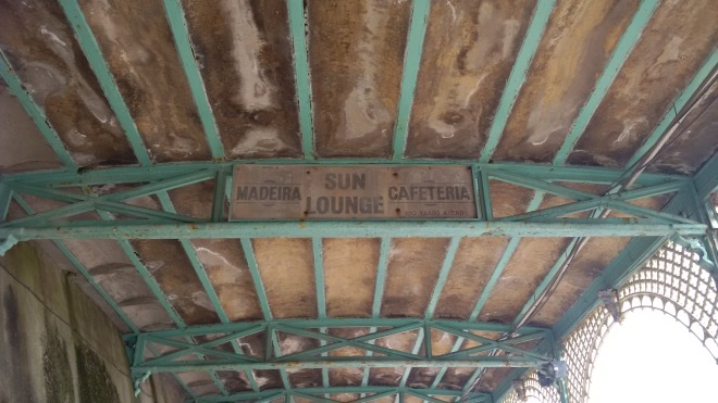 Madeira Sun Lounge - old sign for the shelter hall on Madeira Drive