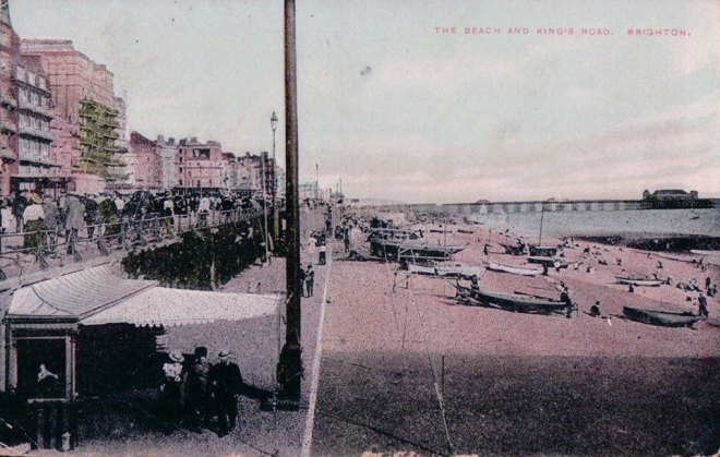 The beach and Kings Road, Brighton
