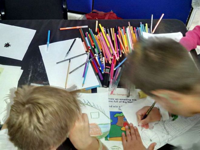 Building Green drawing competition entrants in full colouring frenzy!