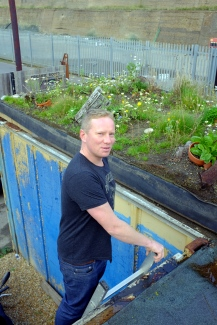 Lee Evans of Organic Roofs at his HQ