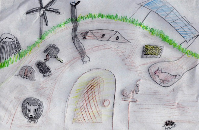 Earth sheltered eco-home by Tamsin, age 14