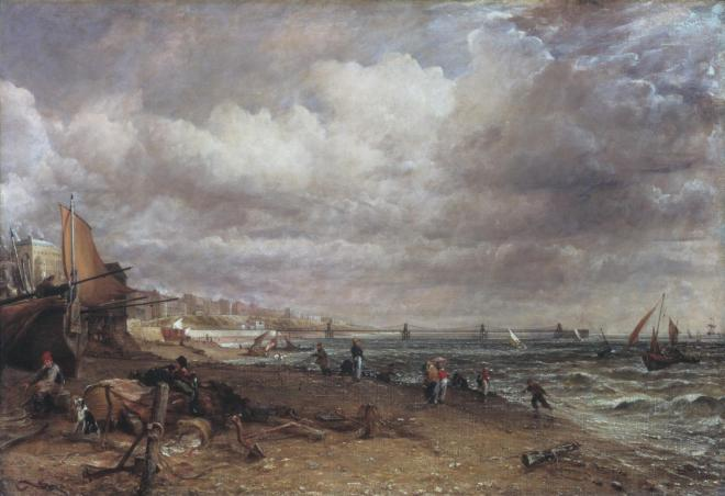 Chain Pier, Brighton 1826-7 by John Constable 1776-1837