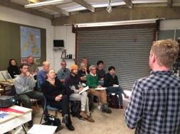 Talks at Organic Roofs HQ