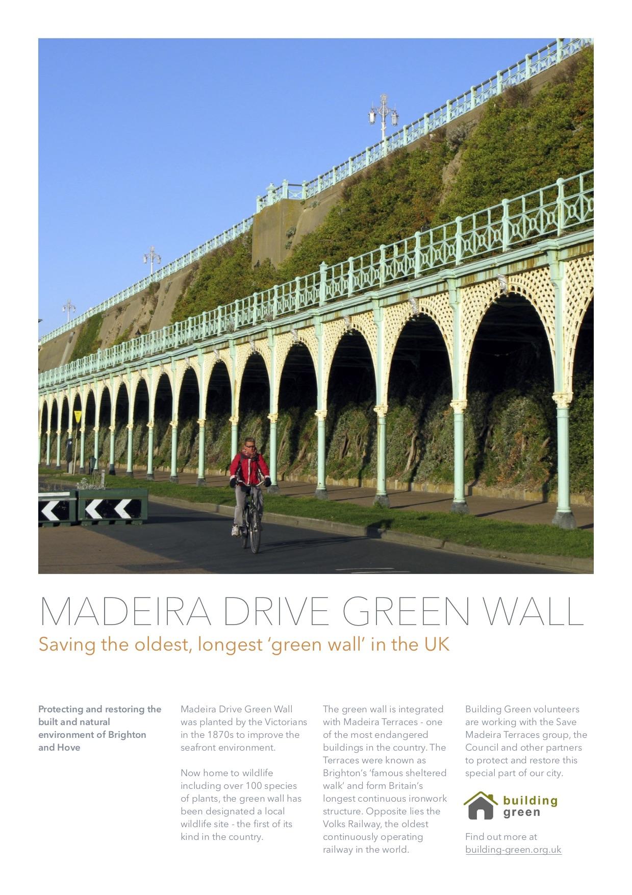 Madeira Drive Green Wall Brighton Hove Poster