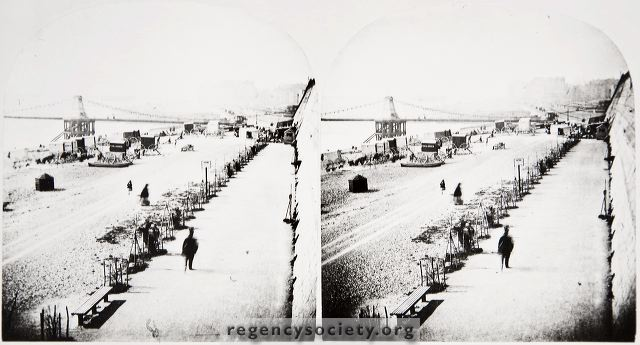 brighton seafront 1872 chain pier cliff planting people James Gray collection